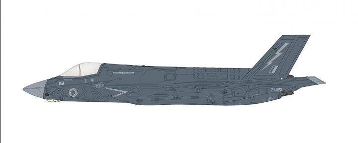RAF 2019 Dline 2 = UK Lightning Force, 2019  Martin F-35B STOVL Hobby Master HA4610 Scale 172