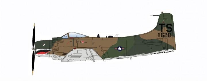 USA A-1H Skyraider 22nd SOS 56th SOW South Vietnam Hobby Master HA2914 scale 1:72
