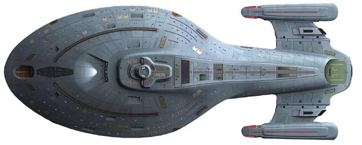 Mega Size! USS Voyager NCC-74656 Captain Kathryn Janeway Star Trek EagleMoss EM-STMG05