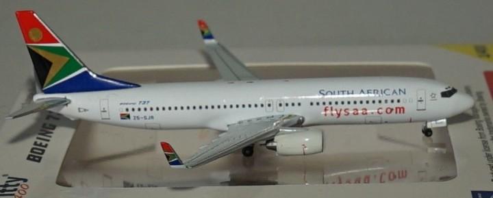 WT4738019 South African B737-844 ZS-SJR Flysaacom WTW-4-738-019 scale 1-400
