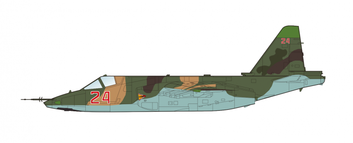 """New Mould! Su-25 SM """"Frogfoot"""" Russian Air Force Syria Nov 2015 Hobby Master HA6101 scale 1:72"""