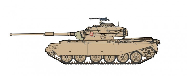 "Centurion Mk.5 ""Nasser's Nightmare!"" 6th Royal Tank Rgt. Port Said Dec 1956 Hobby Master HG3512 scale 1:72"