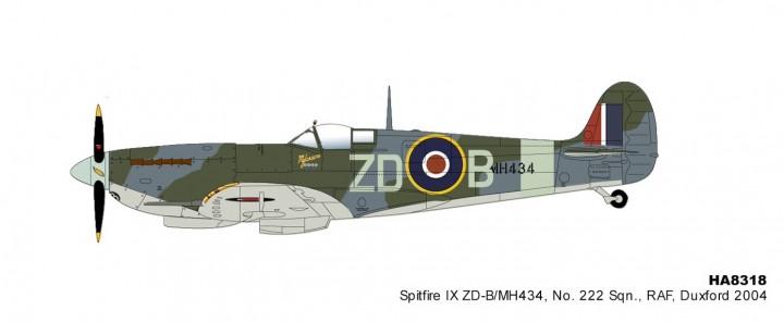 2004 RAF Mk.IX No.222 Sqn Duxford 2004 Hobby Master HA8319 scale 1:48