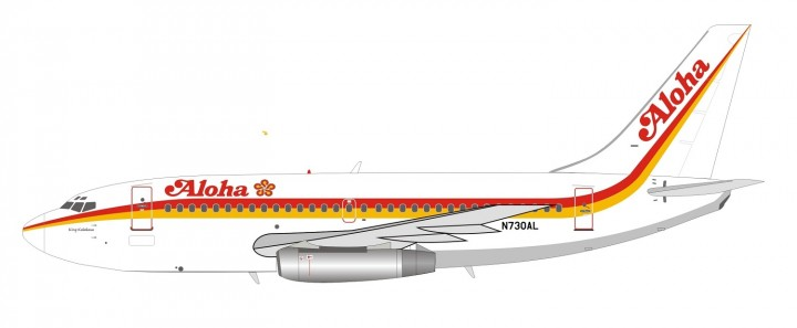 Aloha Boeing 737-200 N730AL With Stand Inflight IF732AQ1018 scale 1:200