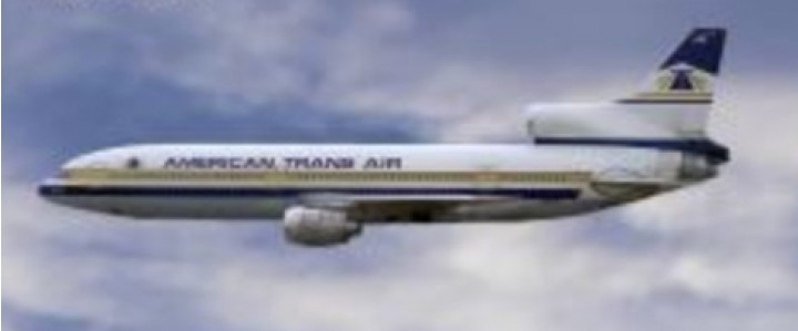 American Transair Lockheed L-1011 TriStar N197AT by Lockness Models LM419561 scale 1:400