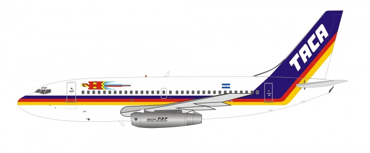 TACA Boeing 737-200 YS-08C (El Salvador) InFlight with stand IF732TA0719 scale 1:200