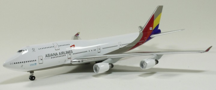 Asiana Airlines B747-400 HL7428 1:400 Scale Witty Wings