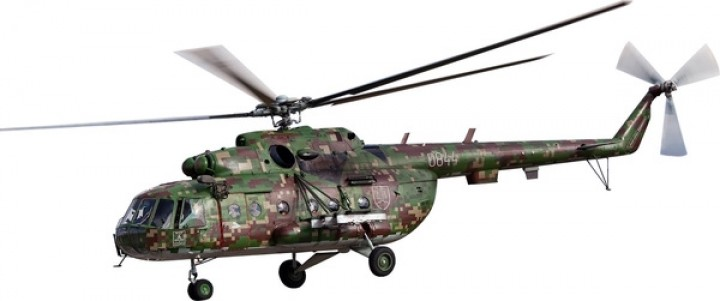 Helicopter MI-17 Slovaka Air Force 0844 WTW-72-101-002 1:72