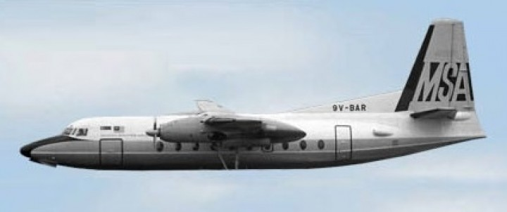 MSA Fokker F-27 9V-BAR Aero Classics AC19198 Scale 1:400
