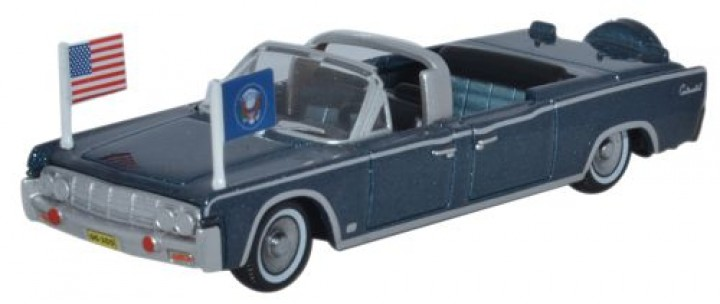"""Lincoln Continental X100 Presidential Limousine """"Kennedy"""" 1961 Oxford 1:87 HO"""