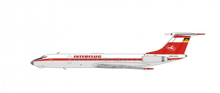 Interflug Tupolev TU-134A  DDR-SCK die-cast panda 202115 Scale 1:400