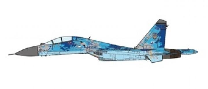 Ukrainian Air Force Su-27UB 2016 JC wings JCW-72-SU27-006 scale 1:72