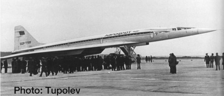 Aeroflot Tupolev TU-144S Supersonic CCCP-77109 Herpa 533324 Scale 1:500