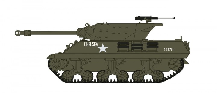 """British Achilles IIC """"Chelsea"""" tank (Upgraded M10) I Corps Normandy summer 1944 HG3420 scale 1:72"""