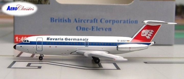 D-AISY Aeroclassics Bavaria Germania BAC-111 Die-Cast Model Airplane 1:400 (