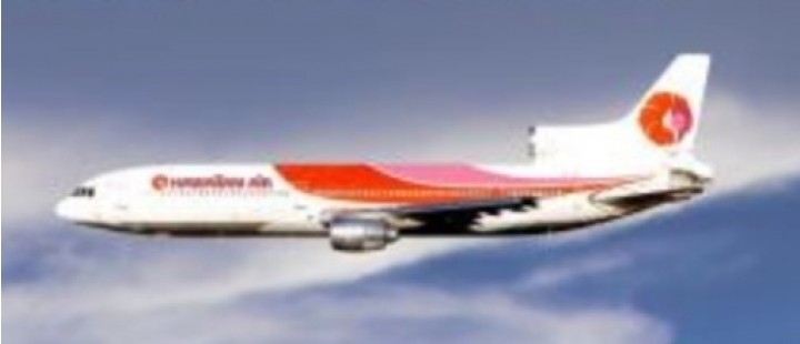 Hawaiian Air Lockheed L-1011 TriStar N763BE by Lockness Models LM419563 scale 1:400