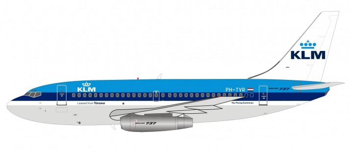 KLM Boeing 737-200 PH-TVR Inflight with stand IF732KL0519 scale 1:200