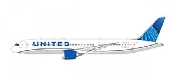 New Livery United Boeing 787-9 Dreamliner Gemini Jets GJUAL1795 scale 1:400