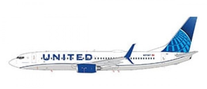 United Airlines Boeing 737-800 scimitars Gemini 200 G2UAL763 scale 1:200