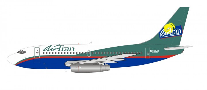 Air Tran Boeing 737-200 N467AT InFlight with stand IF732FL0519 scale 1:200