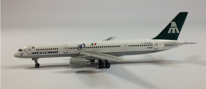 "ezToys USA Exclusive! Mexicana Boeing B757-200  (80 Years Anniversary)  ""Juan Pablo""   ""AviaMini Jets"