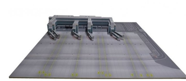 Munich Airport: North Pier with 15.7 x 15.7 in Plate Herpa 530286 Scale 1:500