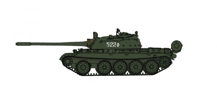 T-55A MBT Soviet Army Tank 1970s Hobby Master HG3323 Scale 1:72