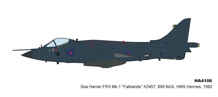 Sea Harrier Royal Navy FRS Mk.1 899 NAS HMS Hermes 1982 Falklands Islands 1982 HA4106 scale 1:72