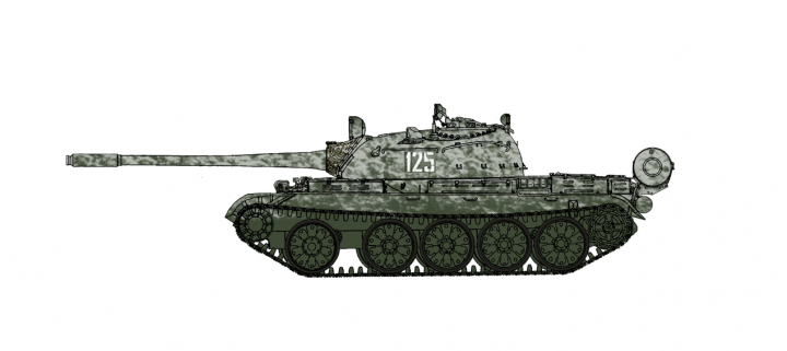 T-55A MBT Soviet Army winter 1970s Hobby Master HG3322 Scale 1:7