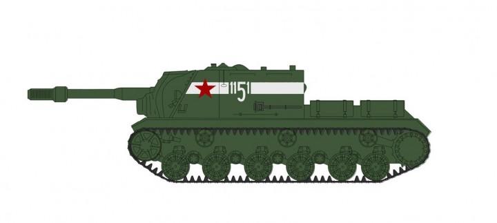ISU-152 Tank Destroyer Soviet Assault Gun Brigade Berlin 1945 Hobby Master HG7053 scale 1:72