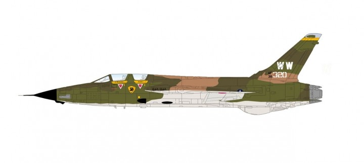 "New Tool! F-105G  ""Wild Weasel"" 561 TFS Vietnam War Hobby Master HA2550 scale 1:72"