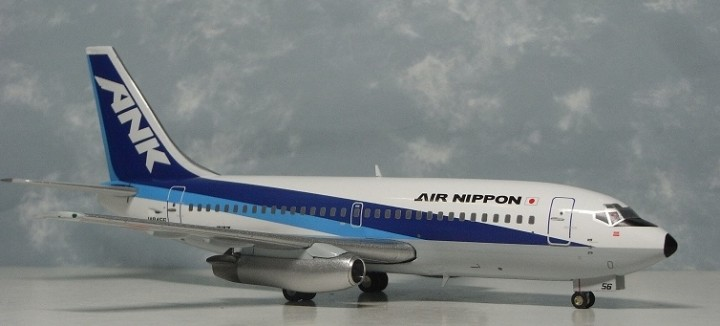 1/200 ANK (All Nippon)  B737-200 ~ JA8456 (Chrome)