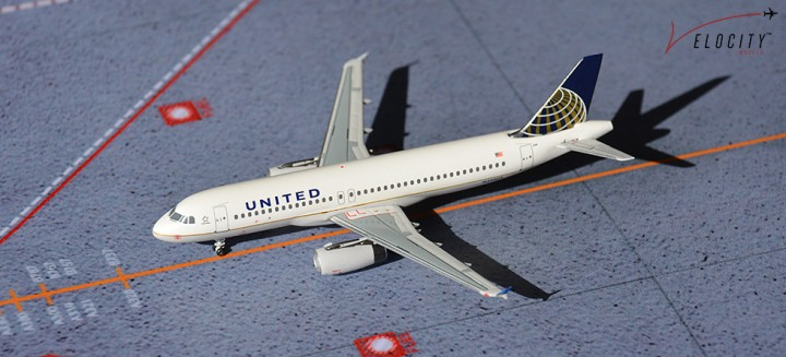 United A320 N440UA with special launch box artwork. Velocity Models
