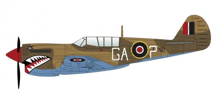 P-40N Kittyhawk 112 Squadron RAF 1944 Hobby Master HA5507 Scale 1:72