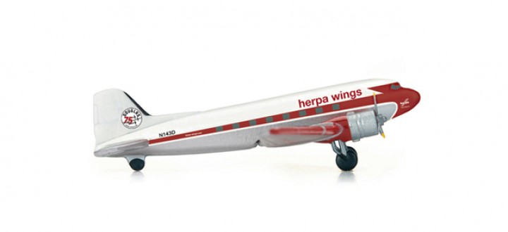 DC-3 Herpa 75 Years 553803 Herpa Wings scale 1:200