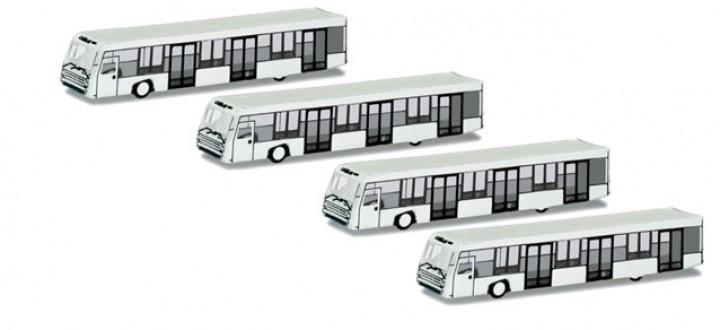 Herpa Scenix Airport Bus Set (4 pieces)