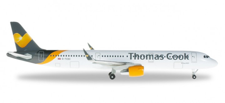 "Last One! Thomas Cook A321 w/Sharklets ""G-TCDC"" Herpa HE526753 1:500"