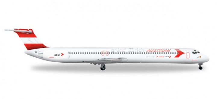 Austrian Airlines MD-81 Reg# OE-LDV Herpa 526951 1:500