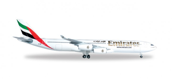 Emirates  Airbus 340-300 Herpa 527415 Scale 1:500