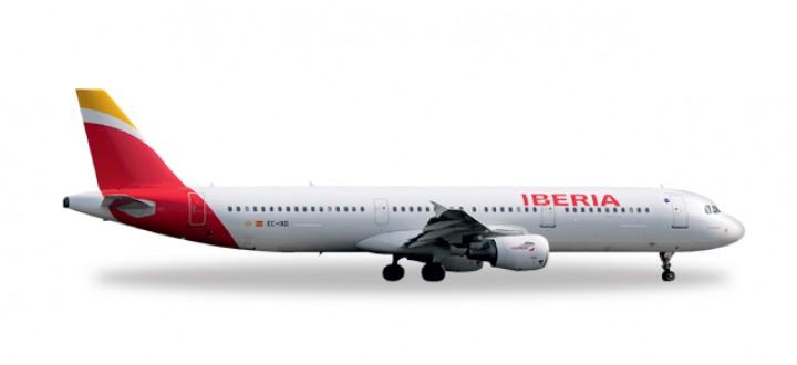 """Iberia New Colors Airbus A321 EC-IXD """"Valle de Aran"""" Herpa 527439 1:500"""