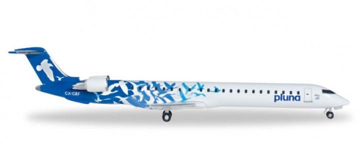 Pluna Uruguay Bombardier CRJ-900 Reg# CX-CRF Blue Herpa 527620 Scale 1:500