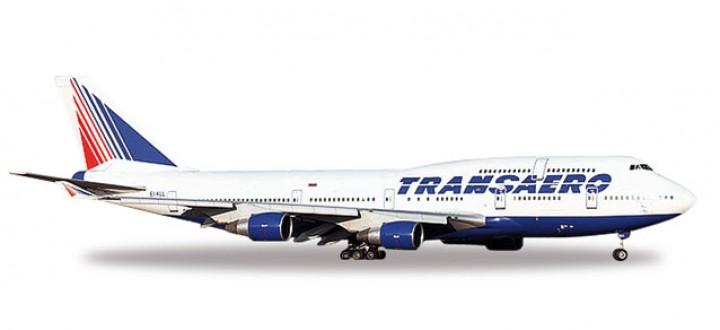 Transaero Airlines  Boeing 747-400 Herpa 527651 Scale 1:500