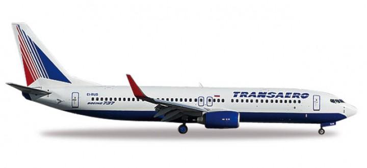 Transaero 737-800 Retro Livery Reg# EI-RUB Herpa 527668  Scale 1:500