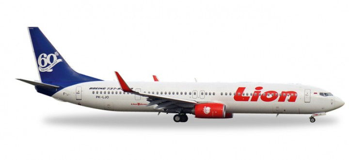 "Lion Air Boeing 737-900ER ""60th Boeing 737-900ER"" HE527910 Scale 1:500"