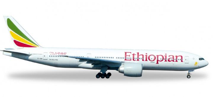 Ethiopian Airlines Boeing 777-200LR Reg# ET-ANN Herpa Wings HE528115 Scale 1:500