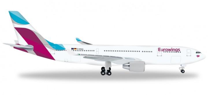 Eurowings Airbus A330-200 Reg# D-WING Herpa Wings HE528153 Scale 1:500