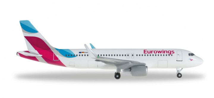 Eurowings A320 Sharklets  Reg# D-AEWE Herpa 528214-001 Scale 1:500