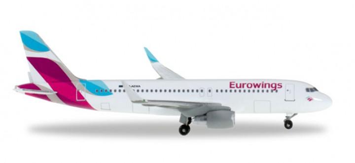 Eurowings Airbus A320 Reg# D-AEWA Herpa Wings HE528214 Scale 1:500