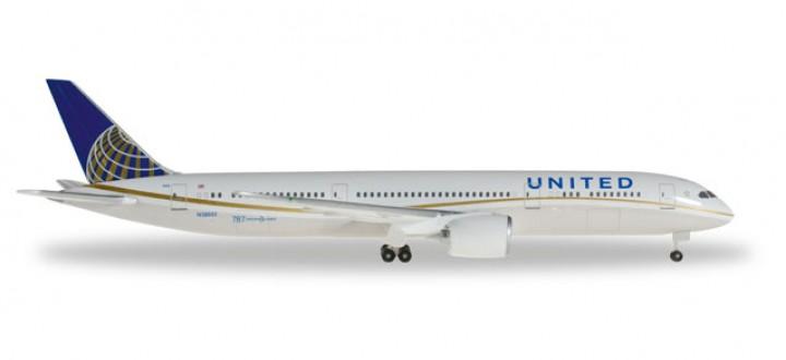 United Airlines Boeing B787-9 Dreamliner Reg# N38950 Herpa Wings HE528238 Scale 1:500
