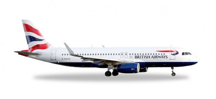 British Airways Airbus A320 Herpa Wings HE528313 Scale 1:500